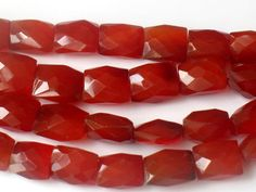 AAA Carnelian Faceted Rectangle Beads by JewelryQuestDesign, $32.99