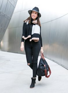 Sydne Style shows how to look stylish with cold weather accessories while traveling