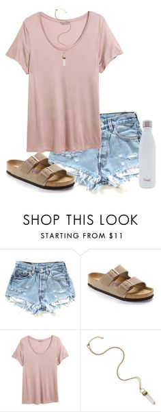 """""""should i make a spring break look book?"""" by mlainezrubi ❤ liked on Polyvore featuring Birkenstock, H&M and S'well"""
