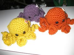 Baby Octopi, designed by by Sarah Hearn from esshaych.blogspot.com