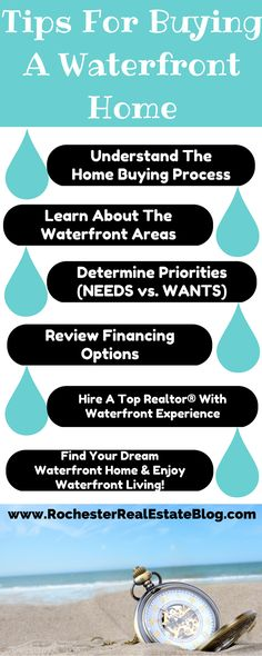 Tips for Buying a Waterfront Home - http://www.rochesterrealestateblog.com/rochester-ny-waterfront-homes-for-sale-local-waterfront-realtor/ via @KyleHiscockRE