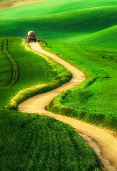 Winding country road (South Moravia, Czech Republic) by Paweł Uchorczak cr.