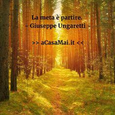 La #meta è #partire. #Citazione #cit #GiuseppeUngaretti #Ungaretti #poesia #acasamai