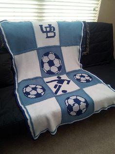soccer blanket i designed. crochet