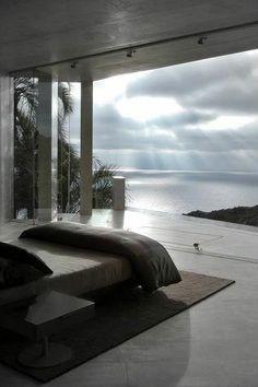 Entspannung Blick aufs Meer - Wohnen - Schlafzimmer Entspannung Blick aufs Meer - Wohnen - Retractable Clothes Line home interior design Dream Rooms, Dream Bedroom, Home Bedroom, Bedroom Decor, Master Bedrooms, Bedroom Beach, Bedroom Lighting, Bali Bedroom, Night Bedroom