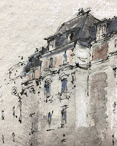 Boulevard Raspail, Paris. A little ink, a little graphite, a little watercolor, a touch of pastel, and this handmade paper by Ruscombe Paper Mill perfectly suits the mood and textures of this rainy day. . . #urbansketchers #urbansketch #usk #paris #uskparis #parisjetaime #sketchwalker #sketchcollector #aquarelle #watercolor #flaxpentopaper #charvinparis #charvinarts #fabercastell #fabercastellpens #noodlersink #fountainpen #ruscombepapermill