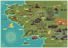 The Realms of Middle Earth on Behance