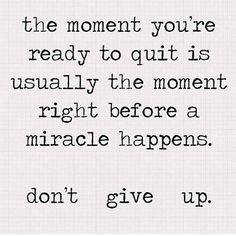 ❥ Never give up