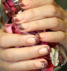 Chocolate french nail #nailart #naildesign