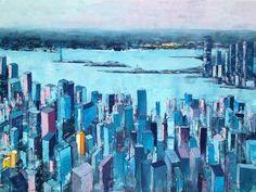 "Saatchi Art Artist Beata Belanszky-Demko; Painting, ""New York city impression"" #art"