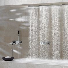 sensory sky shower system by dornbracht rainfall shower head pinterest glasses shower. Black Bedroom Furniture Sets. Home Design Ideas