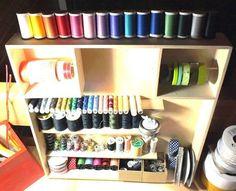 Une super id e de rangement pour atelier couture at home for Rangement materiel couture