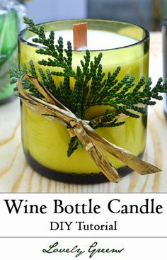 Learn how to make stylish handmade candles out of wine bottles and wooden wicks. This tutorial shows how to cut the bottles as well as fill them!