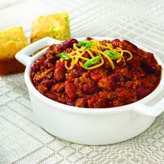 This slow cooker chili will be a surefire hit for pot luck suppers and tailgate parties.