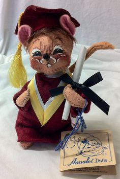 RARE Annalee Graduation with Ceritificate All Tags 1994 Creation by Thriftnstyle on Etsy
