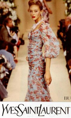 1996 - YSL Couture adv - Chrystele St Louis Augustin