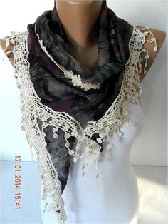 NEWElegant scarf  Fashion scarf  scarves Triangular by MebaDesign,