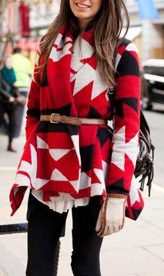 Belted tribal jacket
