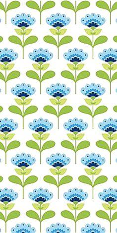 Tilda Baumwoll Stoff Molly Blue -Summer Blue