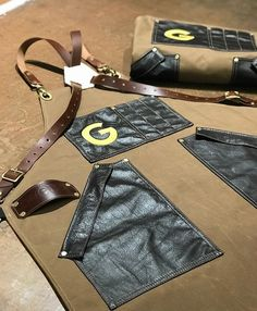 Custom oilskin canvas and leather aprons for Google, handmade by Search and Rescue Denim in Canada Custom Aprons, Leather Apron, Search And Rescue, Canada, Costume, Quilts, Denim, Sewing, Google