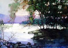 Z. L. Feng is an amazing artist. His work in landscapes is often etherial in nature. I am fortunate to have one of his pieces.