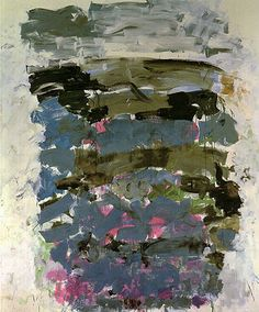 Joan Mitchell - Champs 1990 I really like how these structured yet sporadic painting really embodies what I'm excited by in my art. Originality, experimentation and exploration...