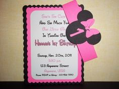 The perfect way to invite all your friends to your Minnie Mouse Birthday Party.  You are purchasing 10 Minnie Mouse Invitations that I personally made with 2 layers of high quality cardstock toped wi