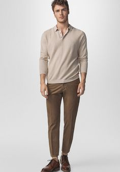 Today's Look: Earth Tones. Photo: Massimo Dutti. #ootd #menswear #mensfashion #mensstyle #instafashion #earthtones #tonal