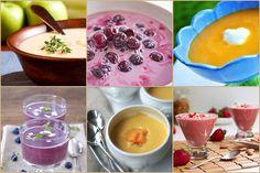 Ha gyümölcsleves, akkor többnyire a meggyleves jut az eszünkbe - mint jellegzetes magyar étel -, de gyümölcslevest sokféle idény-, esetleg mirelit gyümölcs felhasználásával készíthetünk. Hidegen, behűtve tálaljuk, üdítő bevezetője a nyári ebédnek. A gyümölcslevest elődeink hússal is főzték, a mai változatok leginkább a desszertekhez hasonlítanak. Meggyleves (klasszikus, régi recept) Hozzávalók: 60 dkg magozott meggy (magos gyümölccsel is elkészíthető, állítólag jobb az íze) 2 dl száraz vörösbor Soup Recipes, Cooking Recipes, Coffee Drinks, Polenta, Panna Cotta, Vitamins, Good Food, Lime, Food And Drink