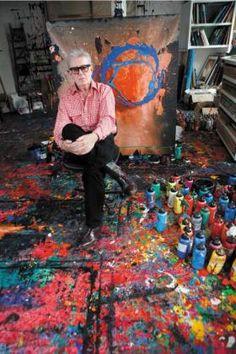 John Hoyland in his studio seems pretty good to me :)