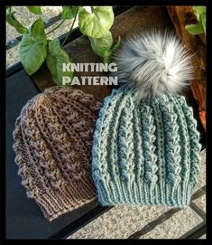 Items similar to Mega Pom Beanie // Crochet PDF Pattern Textured Crochet Hat Pattern Unisex Winter Beanie DIY Pom Pom Fall Toque Wide Brimmed Autumn Cap on Etsy Knitting Patterns Free, Knit Patterns, Loom Knitting, Knit Slouchy Hat Pattern, Knit Or Crochet, Crochet Hats, Knitted Hats, Knit Scarves, Owl Hat