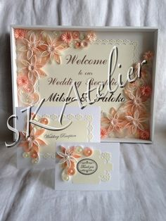 Welcome wedding board & Cards