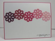 shades of pink flower card