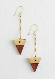 Have to Tri These Earrings. Youre going to love these dangling earrings from Mata Traders! #brown #modcloth