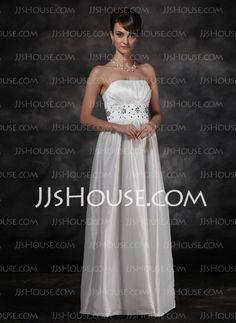 Wedding Dresses - $136.99 - A-Line/Princess Strapless Floor-Length Taffeta Wedding Dress With Ruffle Beadwork (002001592) http://jjshouse.com/A-Line-Princess-Strapless-Floor-Length-Taffeta-Wedding-Dress-With-Ruffle-Beadwork-002001592-g1592