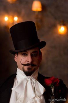 Edwardian Ball 2013 #steampunk I love his mustache.