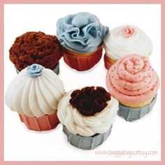 CUPCAKES++PDF+Felt+Food+Pattern+Six+Assorted+Cupcakes+by+BuggaBugs,+$6.00