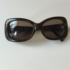 Kate Spade Brown Sunglasses With Large Crystal