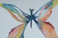 A Watercolor Butterfly, painting a day -- Shanti Marie   http://www.dailypainters.com/paintings/25309/A-Watercolor-Butterfly-painting-a-day/Shanti-Marie