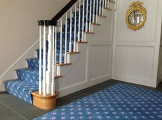 Nautical Stair Runner Design Ideas, Pictures, Remodel, and Decor