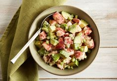 Whether you use Pacific or Maine lobster, it's fabulous in this simple-to-make salad with California Avocado. You will enjoy this salad for its great taste and nutritional benefits starting with 24 g of protein and an excellent source of vitamin K. With 670 mg of potassium, this salad is a good source of potassium, dietary fiber, calcium, folate and vitamins E and C. Enjoy!