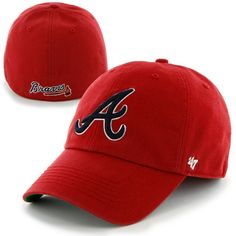 Atlanta Braves '47 Franchise Fitted Hat - Red - $29.99
