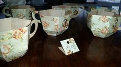 Teacups... perfect for teaparty or picnic. ... made from paper boarf