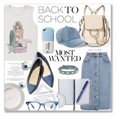"""""""Go Back-to-School Shopping: 10/08/17"""" by pinky-chocolatte ❤ liked on Polyvore featuring Chantecaille, Chloé, M.i.h Jeans, Valfré, Gianvito Rossi, rag & bone, Valentino and Smythson"""