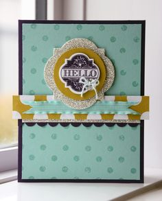 "Amy Bollman: ""Elegant Eggplant is my favorite color in the Regals Collection! I love the way it looks with Pool Party and the Glimmer Paper; it's so pretty. I was so excited to use the Window Frames Collection Framelits—they are so easy to use and add a sophisticated element to any project.""    http://www.facebook.com/photo.php?fbid=10151207676732512"