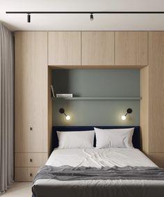 Small Bedroom Designs, Modern Bedroom Design, Contemporary Bedroom, Small Modern Bedroom, Modern Apartment Design, Minimal Apartment, Modern Minimalist Bedroom, Modern Apartments, Room Design Bedroom