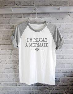 I'm Really A Mermaid tshirt mermaid shell shirt by teesmile