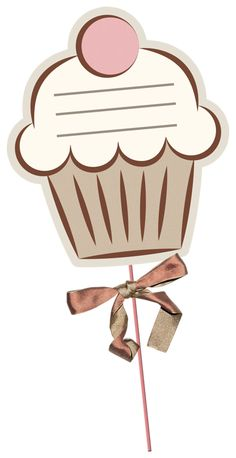 """Photo from album """"Just Candy"""" on Yandex. Cupcake Factory, My Coffee Shop, Food Clipart, Cupcake Card, Diy And Crafts, Paper Crafts, Bakery Logo Design, Photo Booth Props, Props Photobooth"""