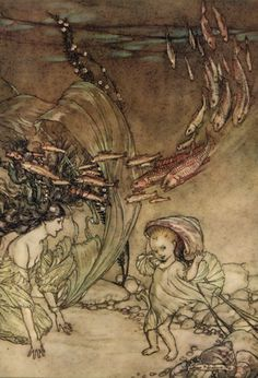 The Infancy of Undine by Arthur Rackham