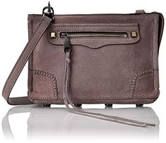 Women's Cross-Body Handbags - Rebecca Minkoff Regan Cross Body Bag Deep Lavender One Size *** Details can be found by clicking on the image.